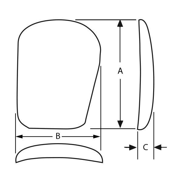 PowerFlex™ Pectoral – Novack Style 3 (Textured)