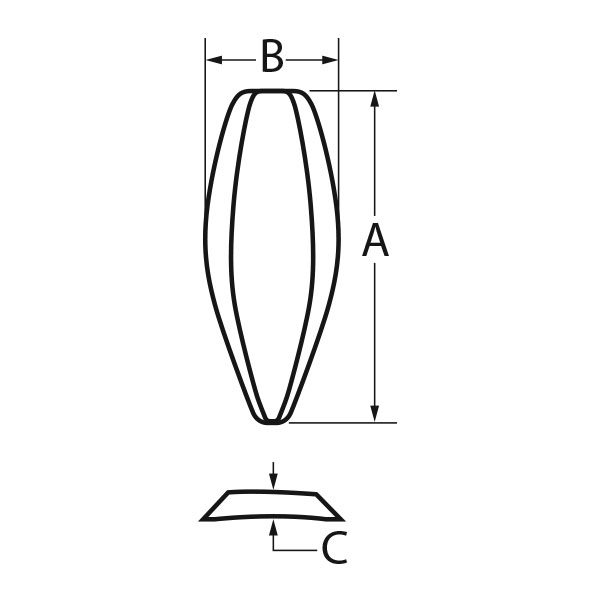 "<span style=""text-transform: lowercase;"">e</span>PTFE Nasal, Pointed"